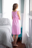 Molly Maternity Nursing Sleeveless Nightgown & Maternity Delivery Nursing Robe Set