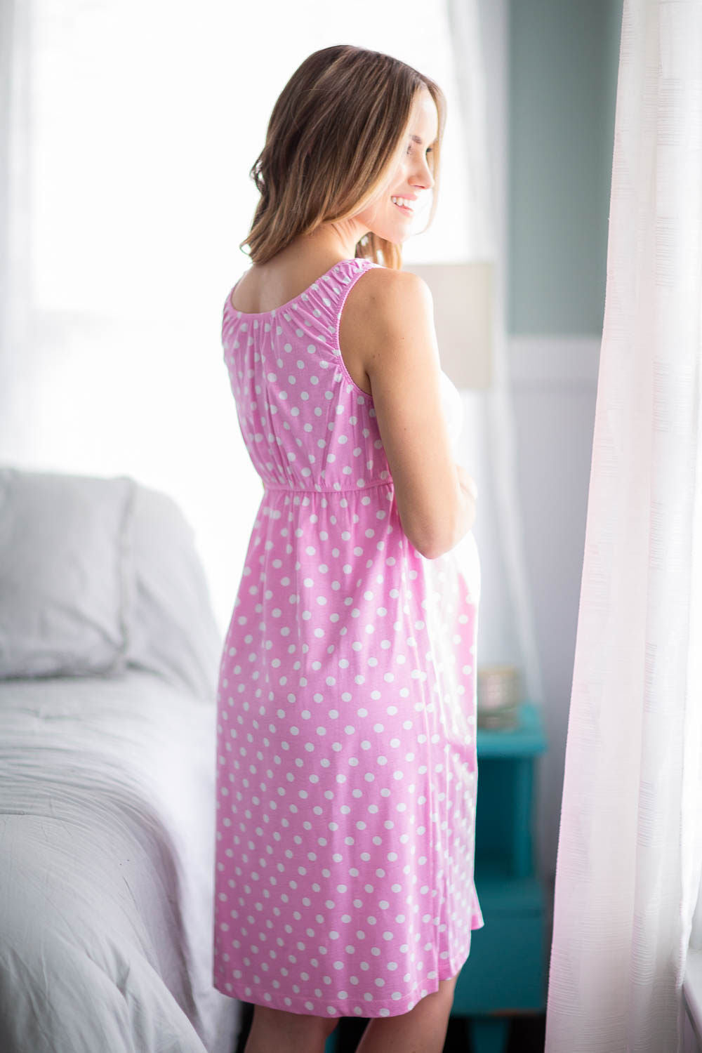 ec9ccc69e9dd5 Molly maternity/nursing nightgown matching baby going home outfit ...