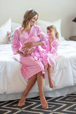Molly Big Sister & Mommy Robe & Swaddle Blanket Set
