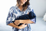 Navy Blue Baby Swaddle Blanket Set