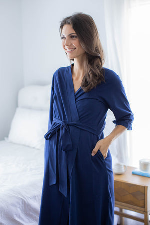 Navy Blue Delivery Robe