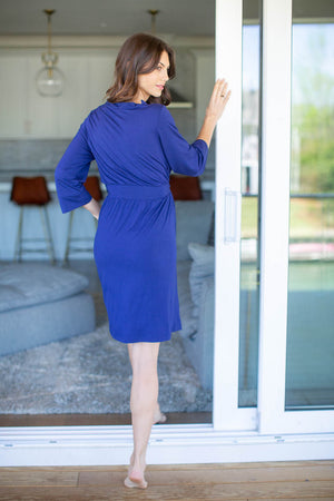 Royal Blue Solid Delivery Robe