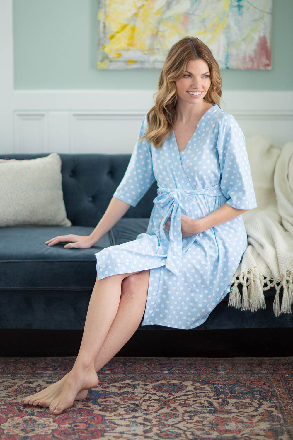 6a6c46b717897 Nicole maternity/nursing nightgown matching Nicole Gownie – Baby Be Mine
