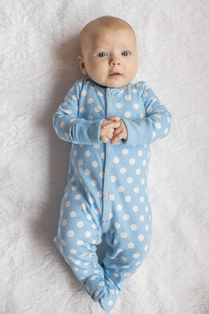 Nicole One Piece Footed Baby Romper