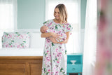 Olivia Gownie and Matching Baby Receiving Gown Set - Mommy And Me