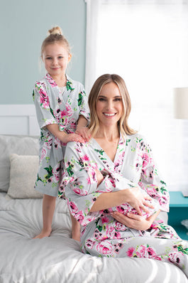 Olivia Girl & Mommy Robe & Swaddle Set