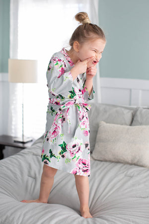 Olivia Big Sister Girl Robe & Little Baby Sister Swaddle Blanket Set