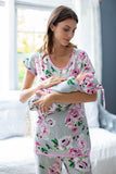 Olivia Maternity Nursing Pajamas & Swaddle Blanket Set