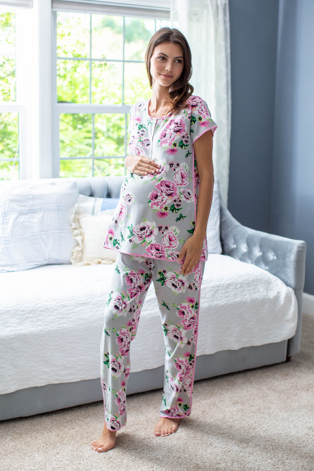 Olivia Maternity Nursing Pajama Set