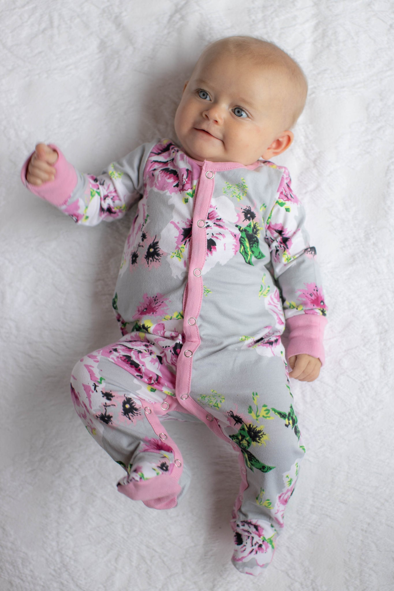 Olivia Baby One Piece Footed Romper