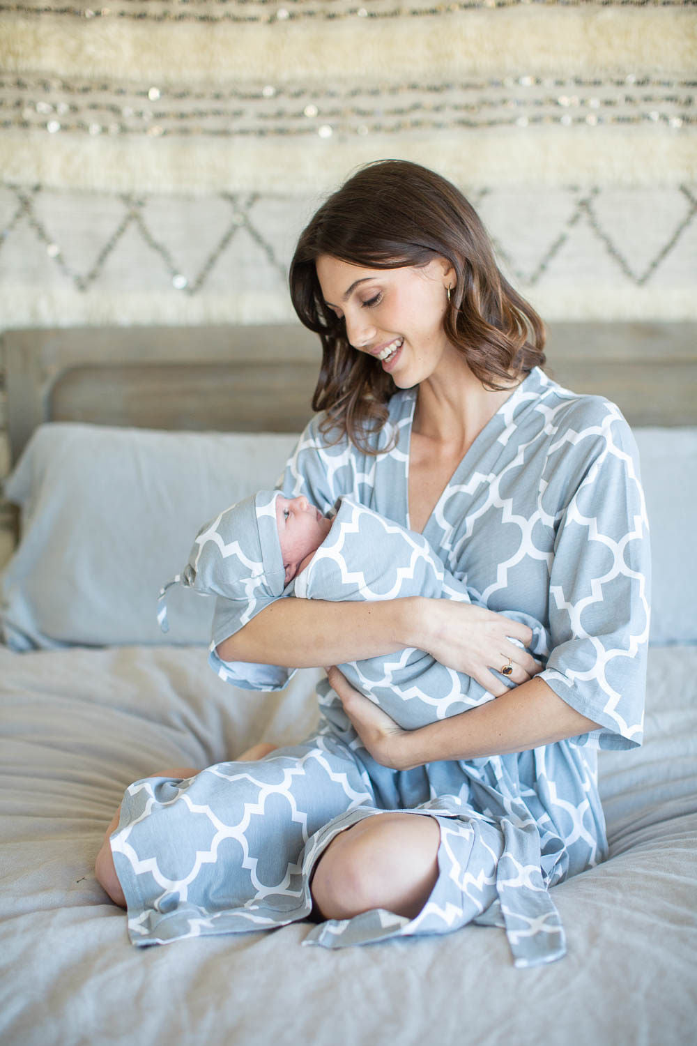Phoebe Delivery Robe & Swaddle Blanket Set
