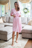 Pink Striped Robe