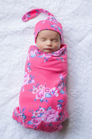 Rose Swaddle Blanket Set