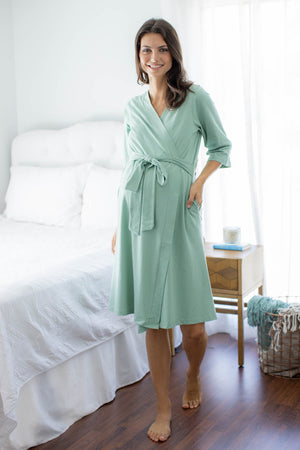 Sage Green Robe & Marie Labor Gown