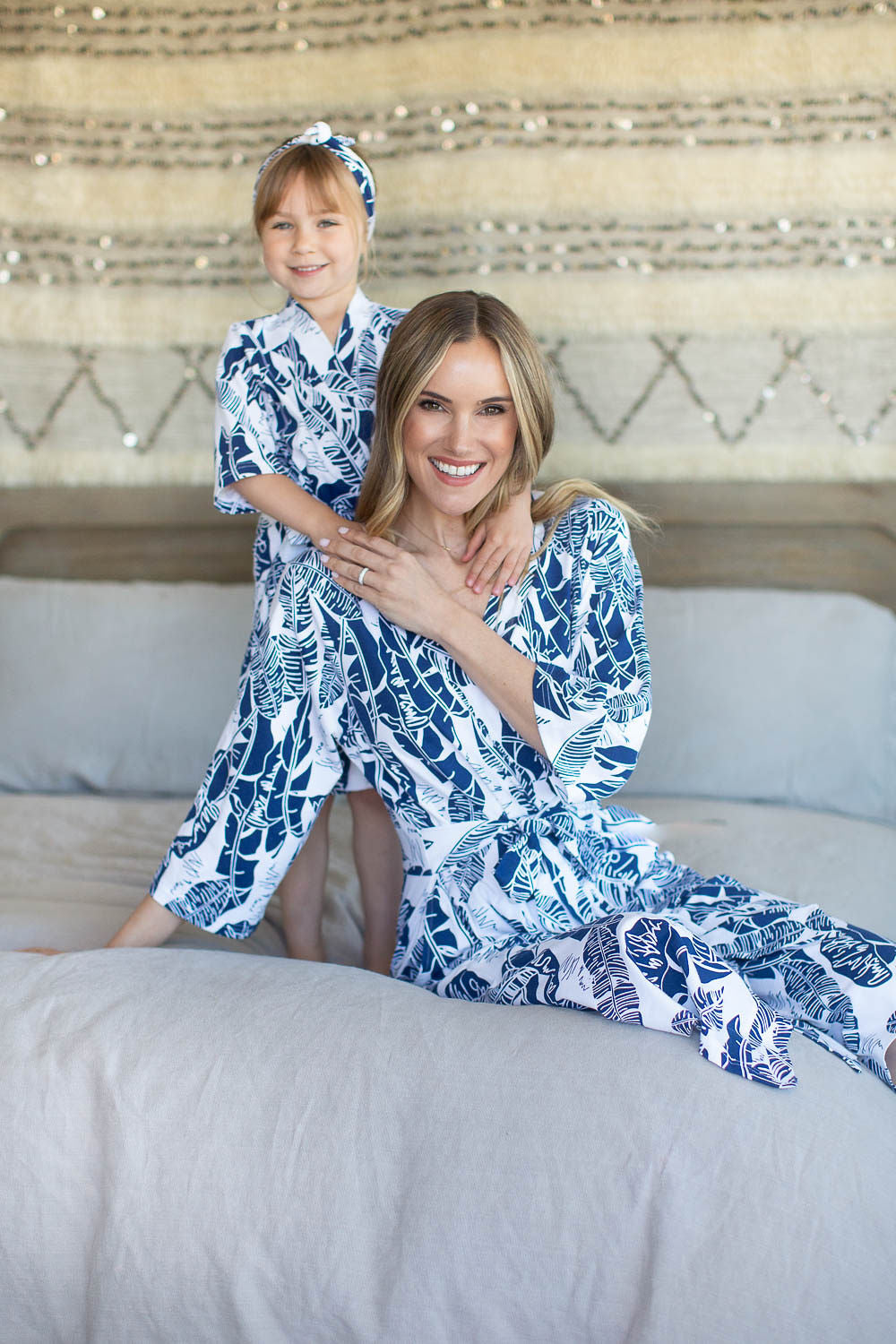 Serra Mommy & Big Sister Robe & Matching Swaddle Blanket Set