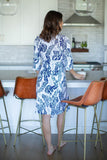 Serra Blue / White Delivery Robe