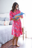 Rose Delivery Robe & Sky Blue Swaddle Blanket Set