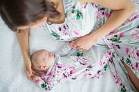 Olivia Maternity/Nursing Nightgown & Matching Baby Receiving Gown And Newborn Hat Set