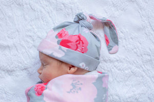 Sophie Swaddle Blanket & Newborn Hat Set