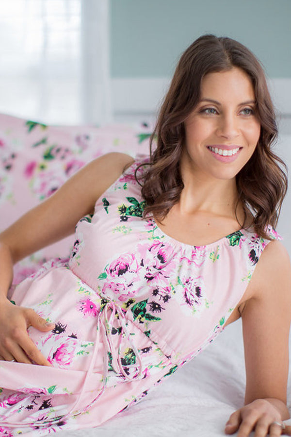 Amelia Floral 3 in 1 Maternity Labor & Delivery Gown