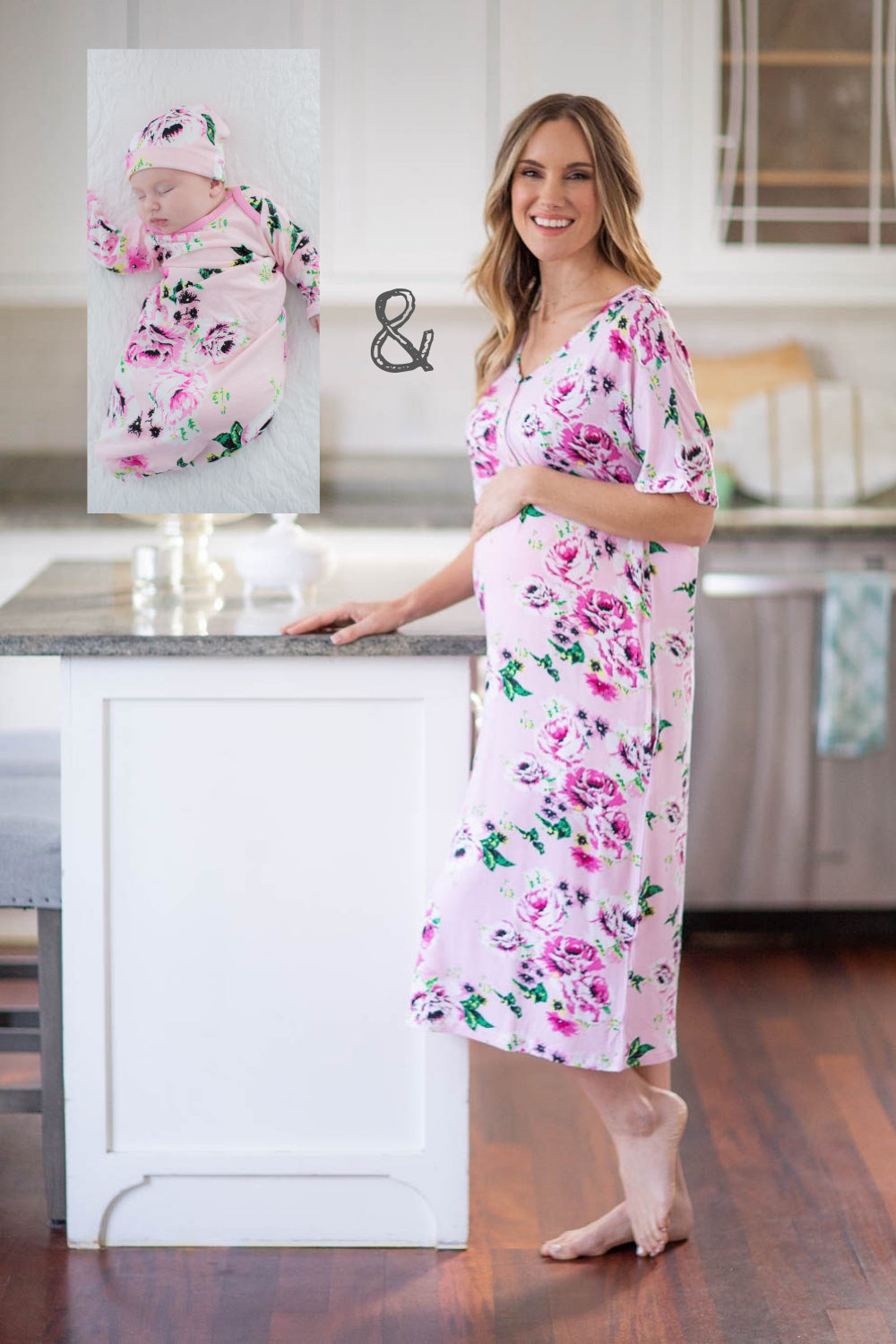 Cute & Stylish Maternity & Nursing Dresses, Amelia Housedress Matching Mommy & Me Set. Modern day lounge dress, comfy enough to stay in all day & roomy enough to accommodate your curves