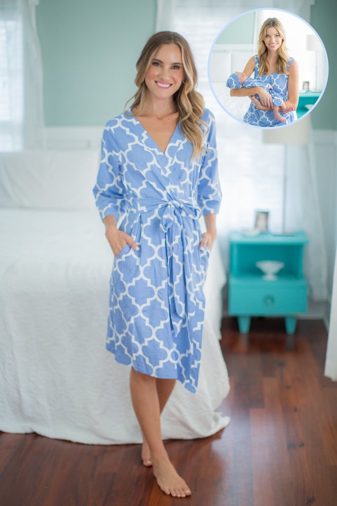 Marin Nightgown, Robe & Baby Receiving Gown Set