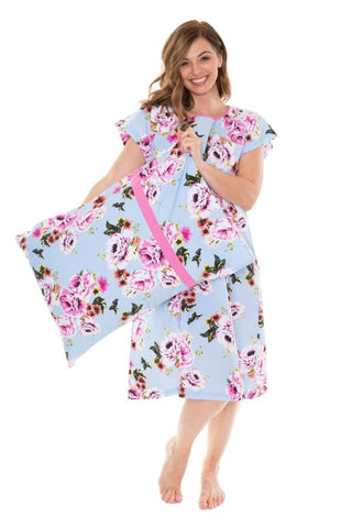 8361537f604f4 Isla Gownie & Pillowcase Set Maternity Delivery Labor Birthing Hospital Gown  Floral Isla Gownie & Pillowcase Set Maternity Delivery Labor Birthing  Hospital ...