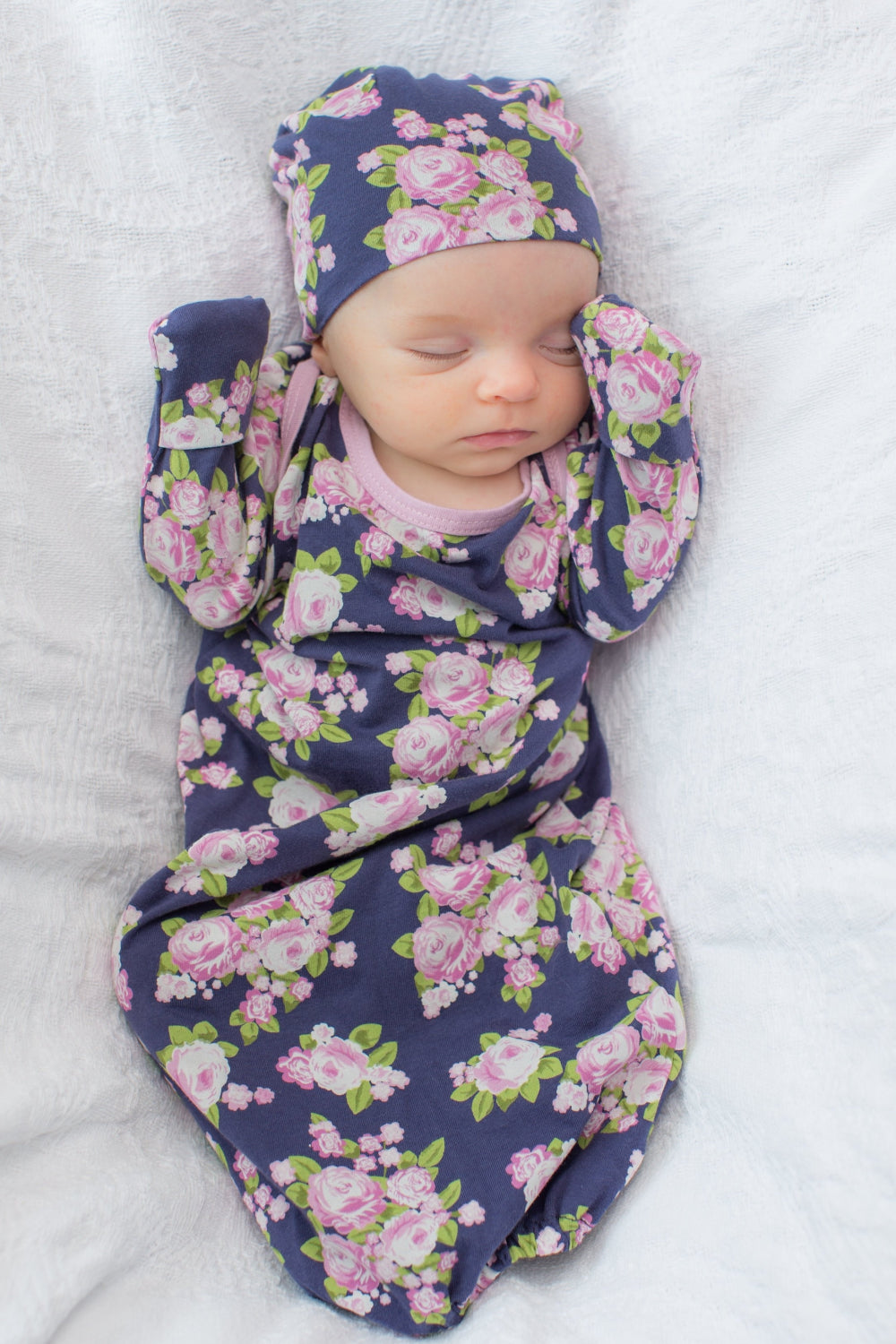 Eve Baby Receiving Gown   Matching Hat Eve Baby Receiving Gown   Matching  Hat 0b55ae169