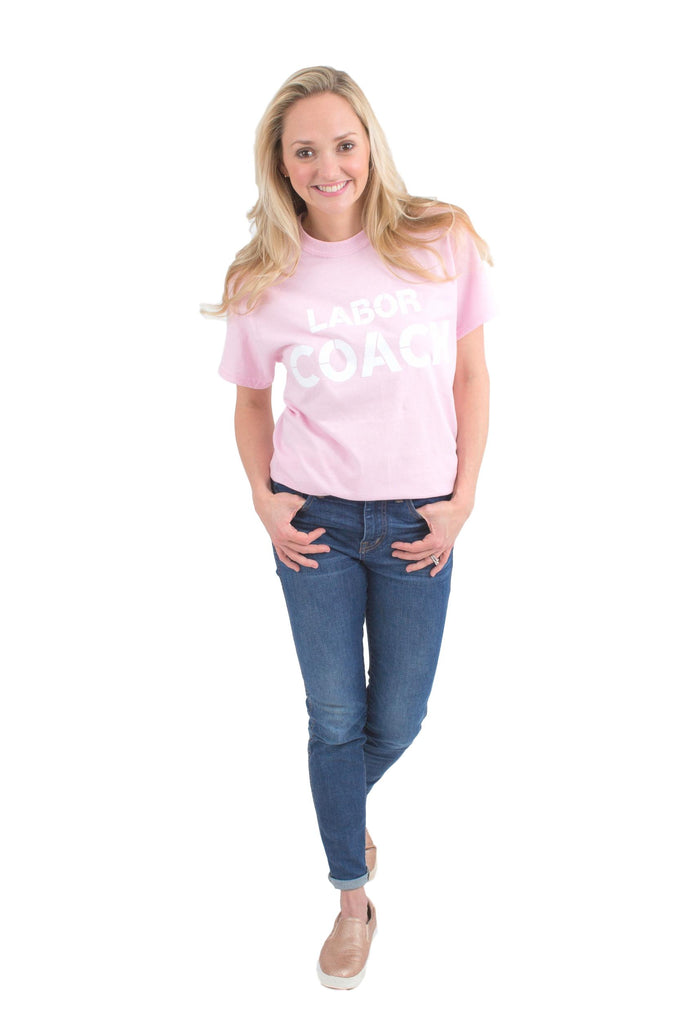 Labor Coach T Shirt Light Pink