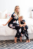 Willow Mom Pajamas & Big Sister Pajamas & Matching Swaddle Blanket Set