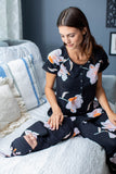 Willow Maternity Nursing Pajamas & Baby Swaddle Blanket Set