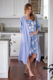 Zoe Floral Nightgown & Matching Striped Robe
