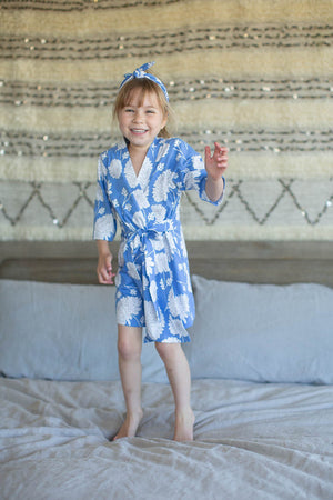 Zoe Floral Big Sister Girls Robe