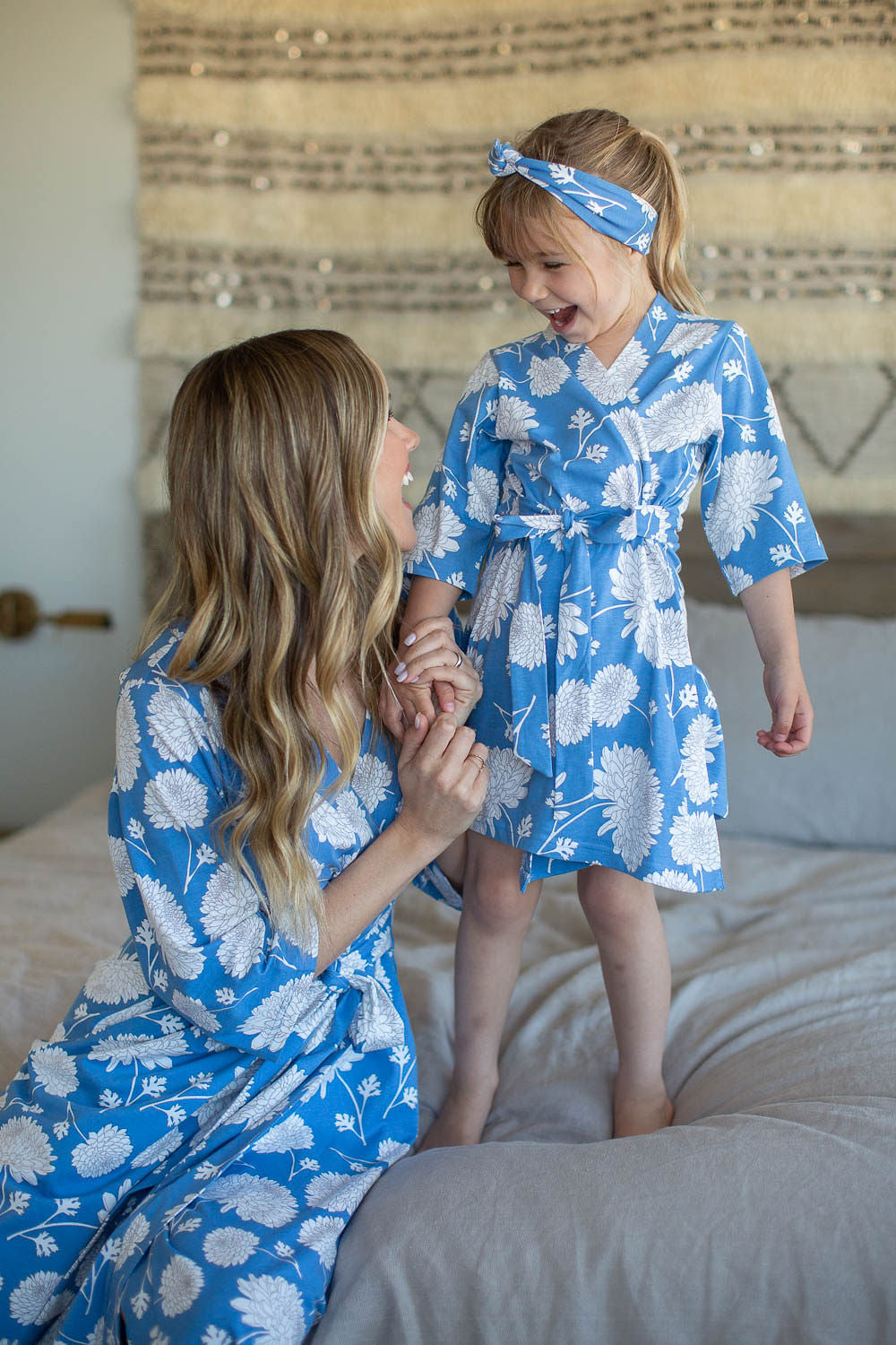 Zoe Floral Mommy & Big Sister Robe Set