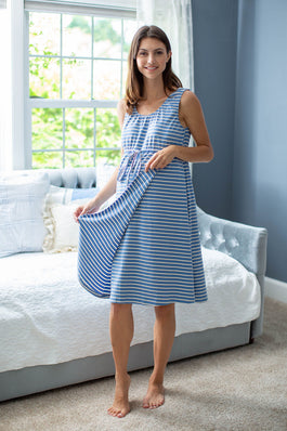 Zoe Stripe 3 in 1 Labor Gown