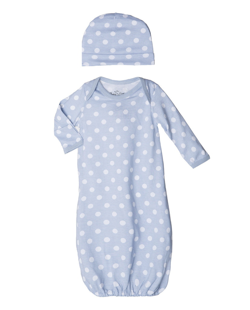 Nicole Maternity/Nursing Nightgown & Matching Baby receiving Gown Set