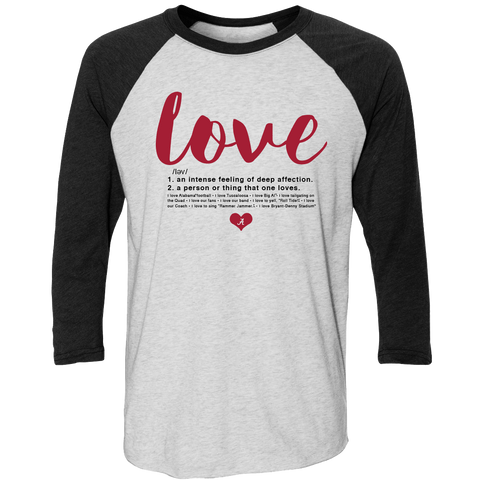 Love Defined Raglan