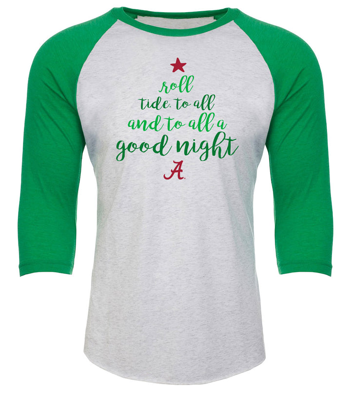 Roll Tide Christmas Wordle Raglan