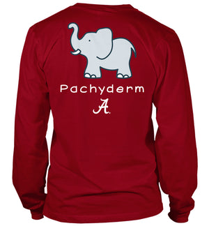 Pachyderm Grey on Crimson