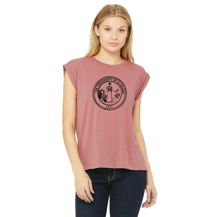 School Seal Flowy Muscle Tee
