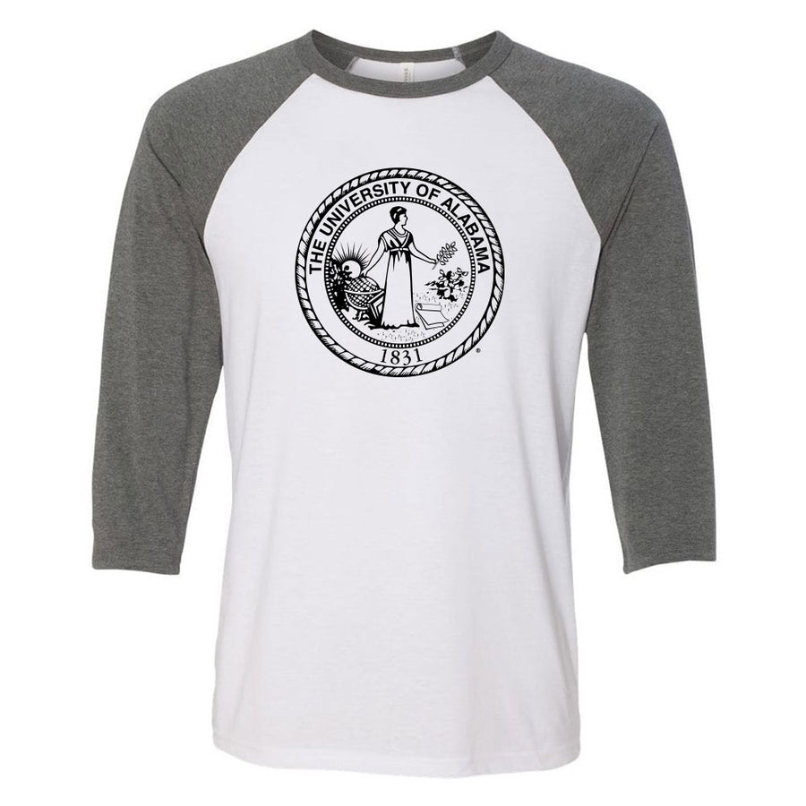 School Seal 3/4 Sleeve Baseball Tee