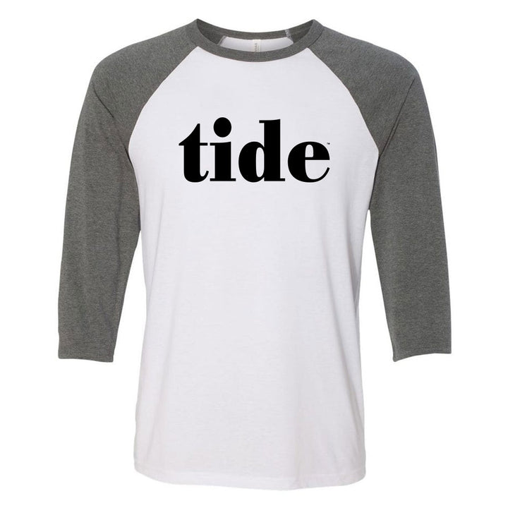 Tide Serif 3/4 Sleeve Baseball Tee