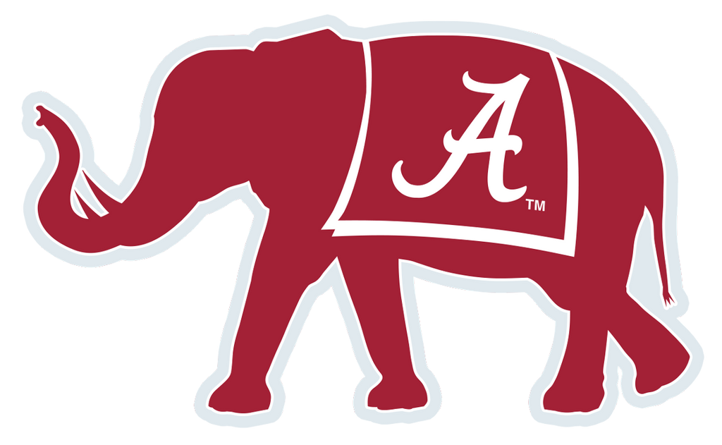 Alabama elephant decal the crimson locker licensed for Alabama football mural