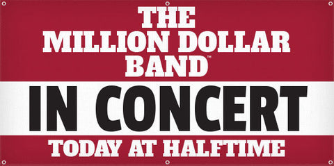 Million Dollar Band In Concert - 3ft x 6ft