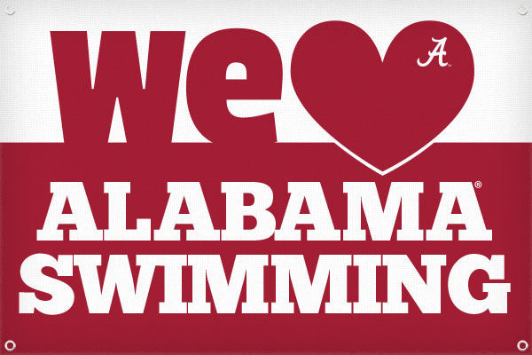 We Heart Alabama Swimming - 2ft x 3ft