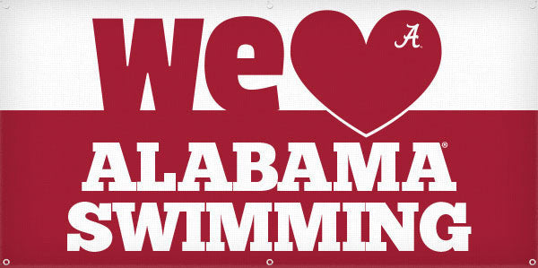 We Heart Alabama Swimming - 3ft x 6ft