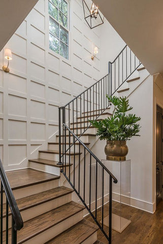 Open, custom-designed staircase