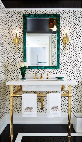 Luxe golden bathroom
