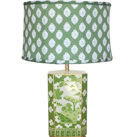 Canton Green Lamp with Green Bellamy Shade
