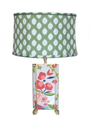 Chintz Lamp with Green Bellamy Shade